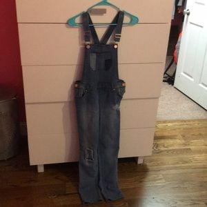skinny jean overalls CHILDS LARGE FITS LIKE 00